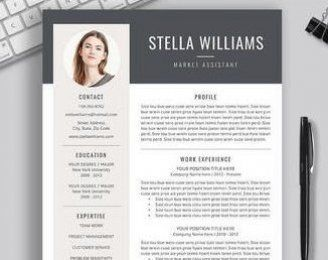 New Zealand Cv Template Resume Template For Word Creative Etsy In 2020 Resume Template Word Cv Template Resume Design Professional