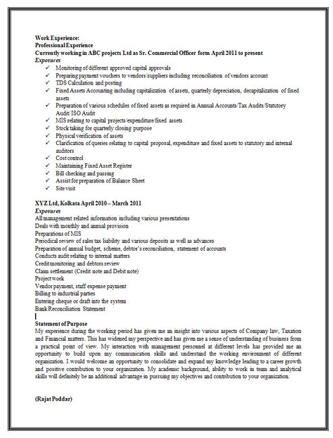 Resume Formats Mechanical Engineer Resume for Fresher Resume - how to prepare a balance sheet