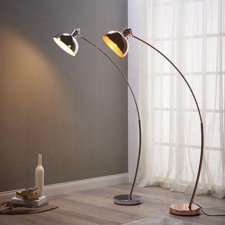 Versanora Arco Arc Floor Lamp With Shade Rose Gold Walmart Com Arco Floor Lamp Arched Floor Lamp Arc Floor Lamps