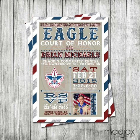 Eagle Scout Invitation - DIGITAL FILE - Court of Honor Invitation - Boy Scout Invitation - Eagle Announcement Ceremony - Eagle Scout Invite
