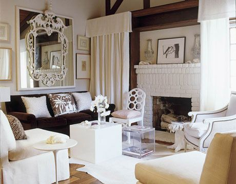 Small Space Inspiration From House Beautiful | Hollywood Regency, Elegant Living  Room And Regency
