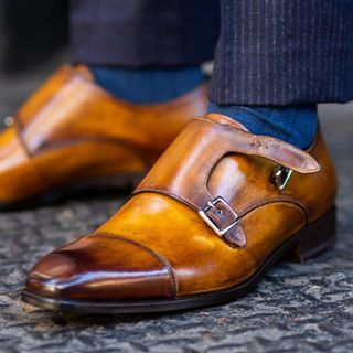 Vintage  Men/'s Double Monk Buckle Strap Dress Shoes Smart Casual Loafers Shoes