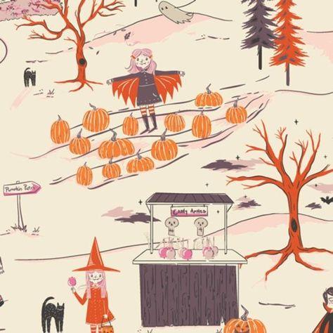 Peppermint's Tale Starlight, Spooky 'n Sweet, Art Gallery Fabrics