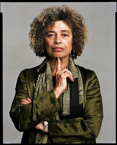 "Angela Davis, photographed by Timothy Greenfield-Sanders as part of his portrait project ""The Black List."" Retired from her professorship at the University of California, she has founded Critical Resistance, an organization working against the prison-business complex in the US. {02.12.15}"