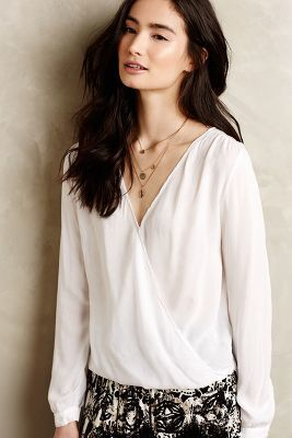 Velvet by Graham and Spencer Bronte Wrap Blouse  #anthrofave #anthropologie