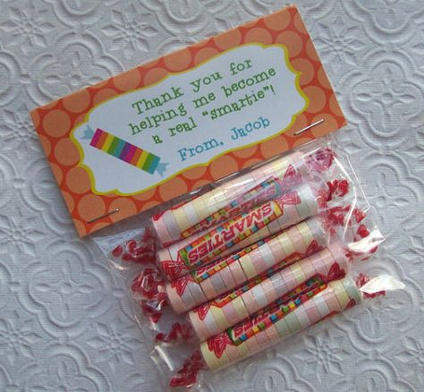 Printable Personalized Smartie Teacher by PinkPosyPaperie on Etsy, $4.00