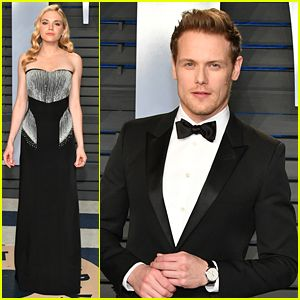 Sam Heughan Attends Oscars After Party With Girlfriend Mackenzie