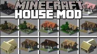 Minecraft Instant Houses Mod Spawn Huge Structures With Villagers Help Minecraft In 2020 Minecraft Modern Minecraft Houses Minecraft Mods