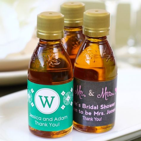 bb26a322b2e Personalized Maple Syrup Wedding Favor by Beau-coup