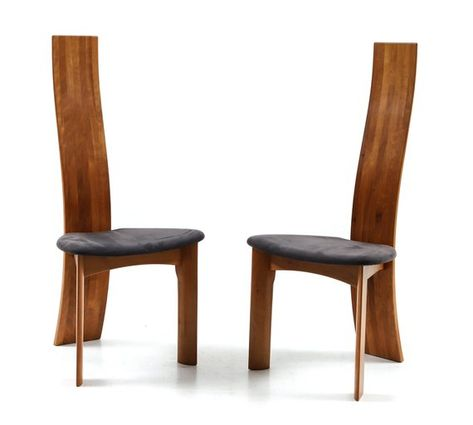 Set Of Eight Danish Cherry Wood Dining Chairs By Bob Og Dries Van