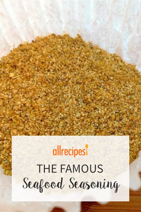 Have you run out of the famous seafood seasoning with the yellow label? Or do you just like making your own seasoning mixes? This blend goes great in all sorts of seafood dishes, plus salads and poultry dishes. Homemade Spice Blends, Homemade Spices, Homemade Seasonings, Spice Mixes, Homemade Dry Mixes, Fish Seasoning Recipe, Seafood Seasoning, Seasoning Mixes, Fajita Seasoning