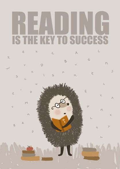 Reading is the key to success. $15.00, via Etsy.