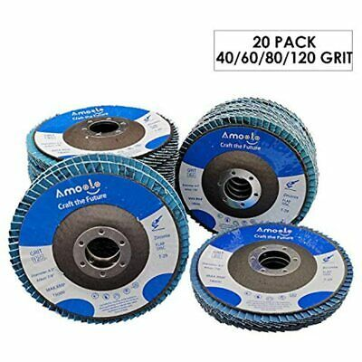 Sponsored Ebay Amoolo 4 1 2 Flap Disc 20 Pack T29 Zirconia Angle Grinder Sanding 40 60 80 In 2020 Angle Grinder Ebay Metal Working