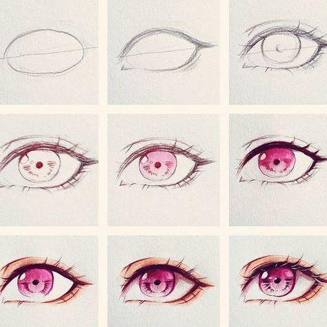 63 New Ideas Drawing Tutorial Anime Eyes Eye Drawing Eye Drawing Tutorials Anime Drawings Tutorials