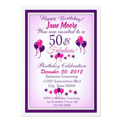 Fabulous Birthday Invitation
