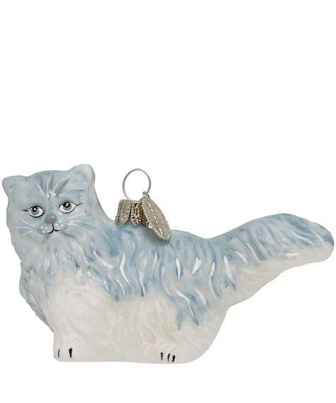 White Persian Cat Gl Decoration Christmas Liberty Co Uk