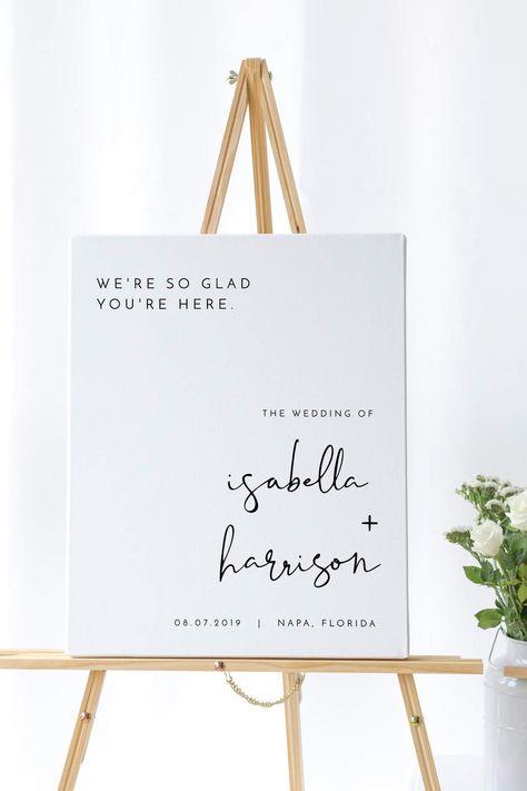 Adella - Modern Minimalist Wedding Welcome Sign Template
