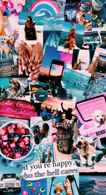 Vsco Vscovibess In 2019 Collage Background Cute