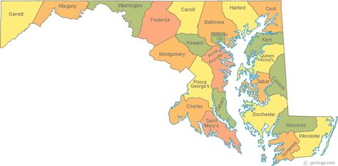 Maryland County Map County Map Map State Map