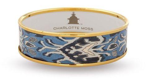 Blue enamel ikat bangle, Charlotte Moss