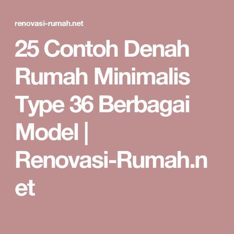 25 contoh denah rumah minimalis type 36 berbagai model