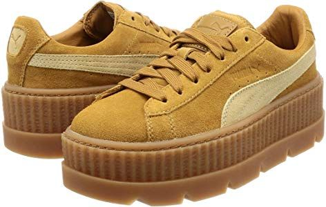 outlet store 53976 644d3 Puma Fenty Cleated Creeper Golden Brown Suede - 6 UK: Amazon ...