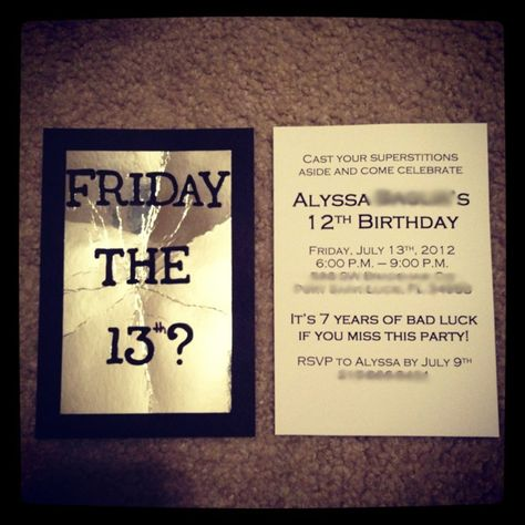The Cutest Invites I Ve Ever Seen Wish Friday The 13th Was Still