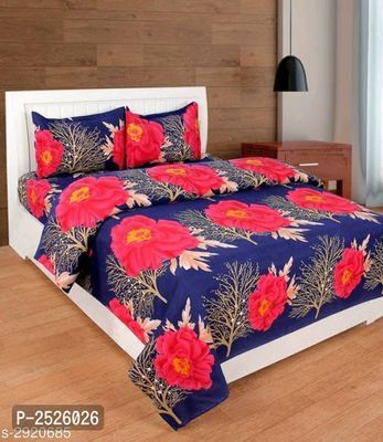 4d Printed Double Bedsheet Set With 2 Pillow Covers 1 2 Bed
