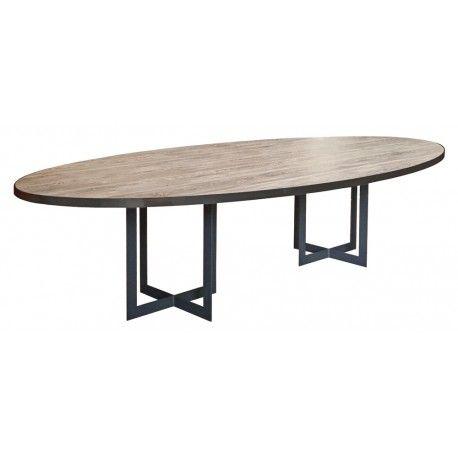 table de salle à manger design calypso ovale dont les piétement