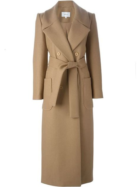 Shop for long belted coat by Carven at ShopStyle.