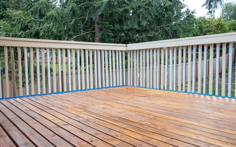 How To Refinish A Deck Diy Tips Diy Deck Deck Screened In