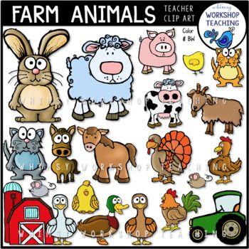 Farm Animals Clip Art Set Clip Art Farm Animals Art Set