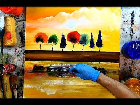 Simple Step By Step Abstract Painting Landscape By