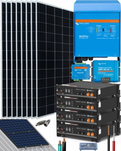Kit Solar Aislada 1000w 12v 4000whdia Al Mejor Precio En 2020 Kit Solar Kit Placas Solares
