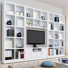 Tv Cabinet Combination Bookcase Lcd Brief Wall Wine Cooler Ikea Billy Hack