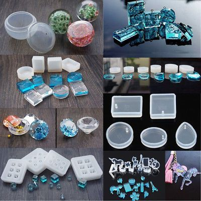 DIY Silicone Pendant Mold Making Jewelry For Resin Necklaces Moulds Craft Tools