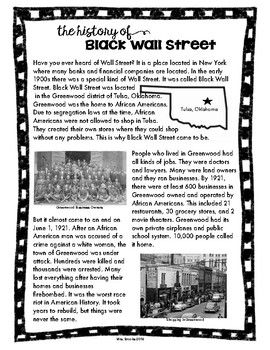 The History Of Black Wall Street Black Wall Street Black Wall