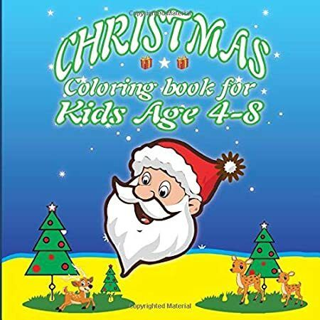 Kindle Christmas Coloring Book For Kids Age 4 8 29 Cute Christmas Coloring Pages For Boys And Girl
