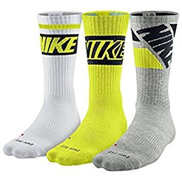 Nike Dri Fit Cotton Cushioned Crew Socks L 8 12 970 White Cyber Gray Nike Men Nike Accessories Nike Dri Fit