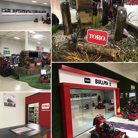 Russo Elgin - Toro BullPen Conference Room, Parts Department, and Showroom Water Feature. Toro Mowers