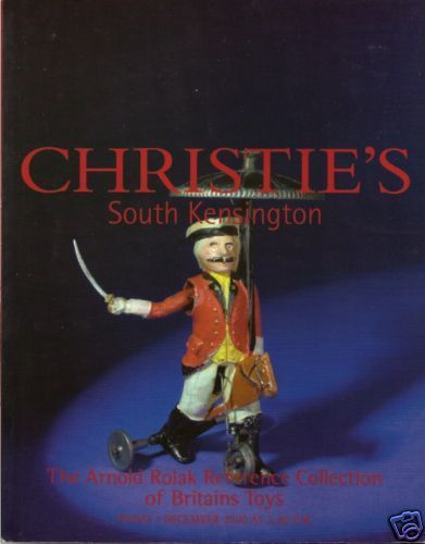 Details About Rare Christie S Rolak Collection British Toys Soldiers Auction Catalog 2000 Toy Soldiers Collection Auction