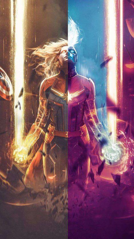Captain Marvel Wallpaper Iphone Wallpapers Captain Marvel Captain Marvel Trailer Marvel Superheroes