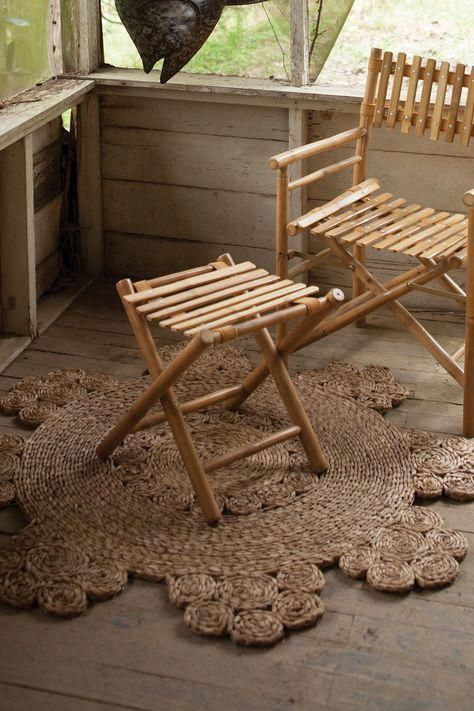 Furniture Casters Moveis De Bambu Banco De Bambu Decoracao