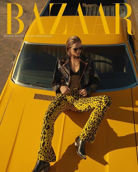 Rosie Huntington-Whiteley Models Sleek Fashions for Harper's Bazaar Greece, December 2019 fashion photography fashion photography behind the scenes editorial fashion editorial b Vogue Editorial, Editorial Denim, Editorial Fashion, Editorial Layout, Editorial Modeling, Car Editorial, Creative Fashion Photography, Fashion Photography Poses, Fashion Photography Inspiration