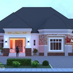 4 Bedroom Bungalow Rf 4019 In 2020 Affordable House Plans House Construction Plan House Plan Gallery