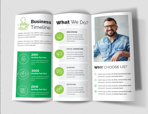 Trifold Bundle Brochures Business brochure, Logo line, Animal logo