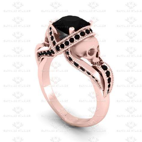 aphrodite-black-diamond-skull-rose-gold-engagement-ring-A