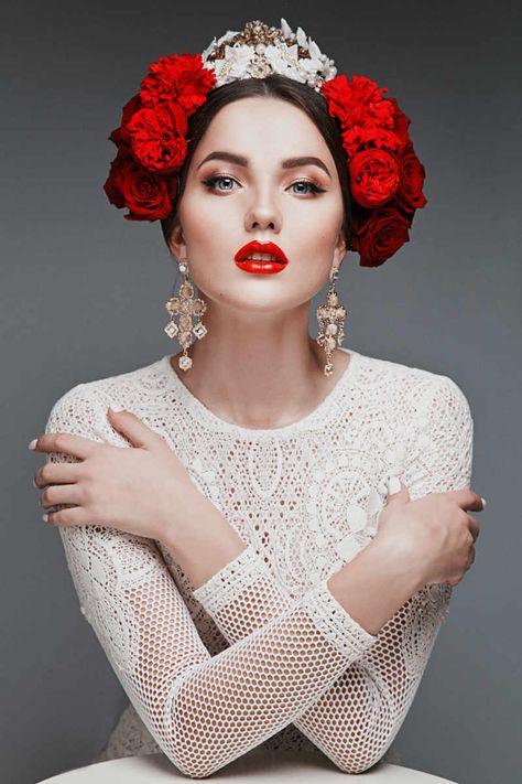 Russian Wedding Hair and Makeup Ideas, Bridal Beauty, Wedding Beauty, Bridal Mak… – Makeup Eyes
