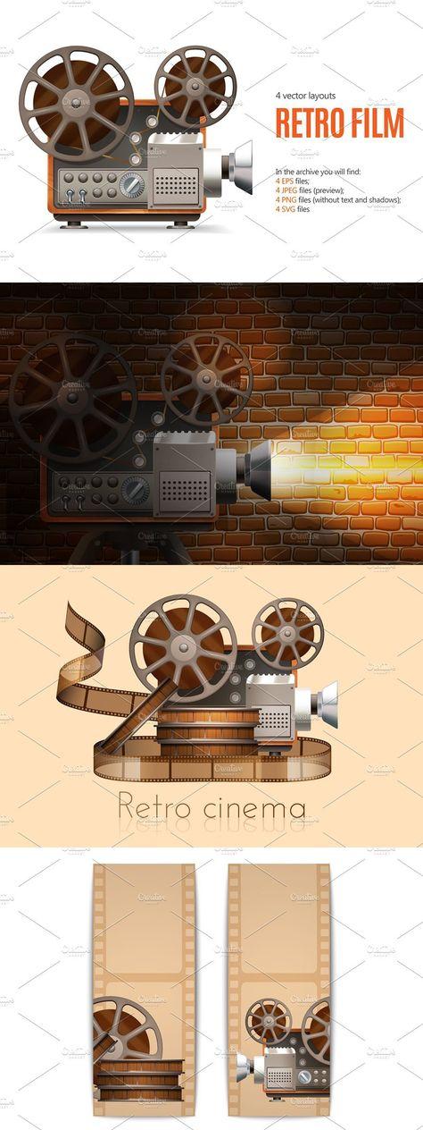 Retro Movie Camera Set