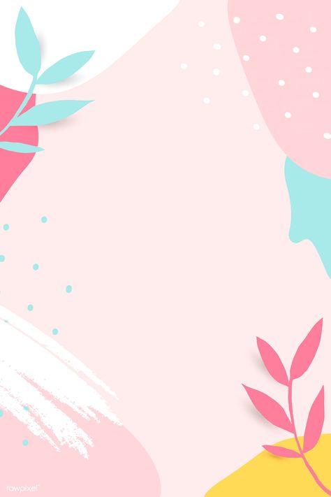 Colorful leafy Memphis frame vector | premium image by rawpixel.com / nunny #vector #vectoart #digitalpainting #digitalartist #garphicdesign #sketch #digitaldrawing #doodle #illustrator #digitalillustration #modernart